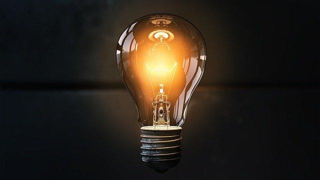 Glühbirne als Symbol für Idee