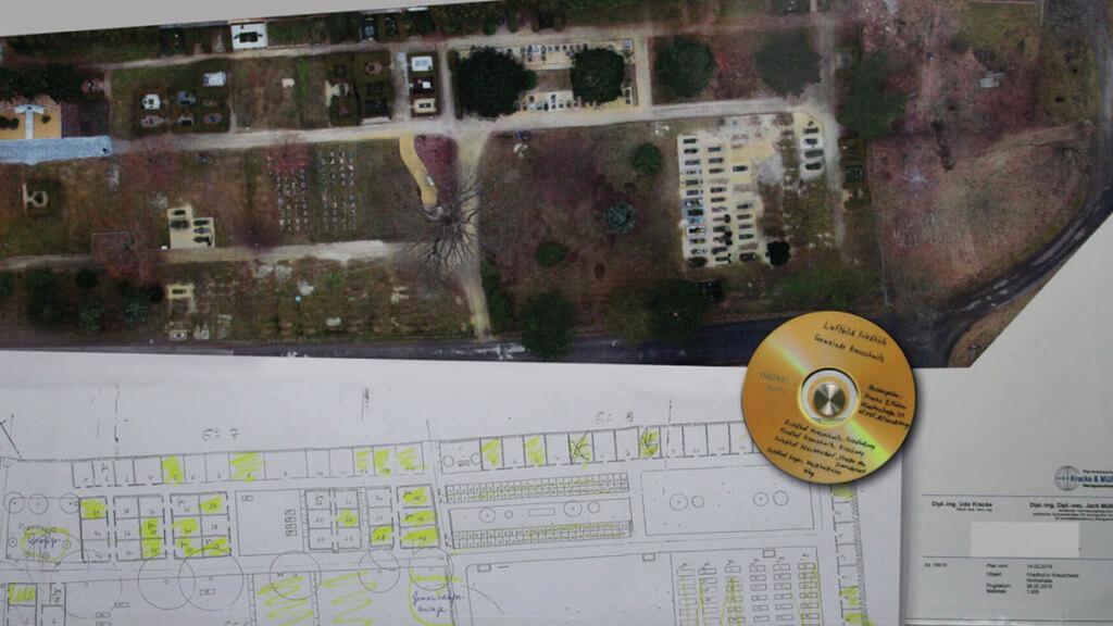 Digitales Friedhofskataster dank Drohnenbefliegung