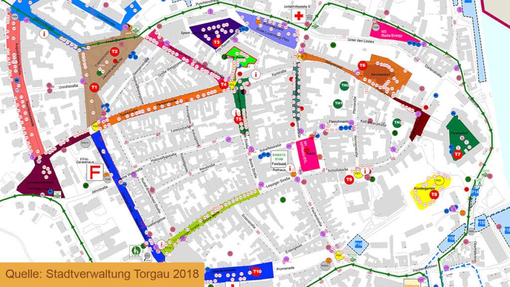 Geografische Karten und Sachdaten für Eventplanung in Torgau
