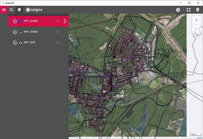 geografische Daten sind per App immer verfügbar