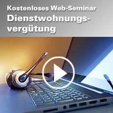 Web Seminar Dienstwohnungsvergütung