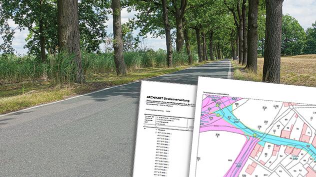 Straßenbestandsverzeichnis mit Widmungsflächen auf Knopfdruck erstellen