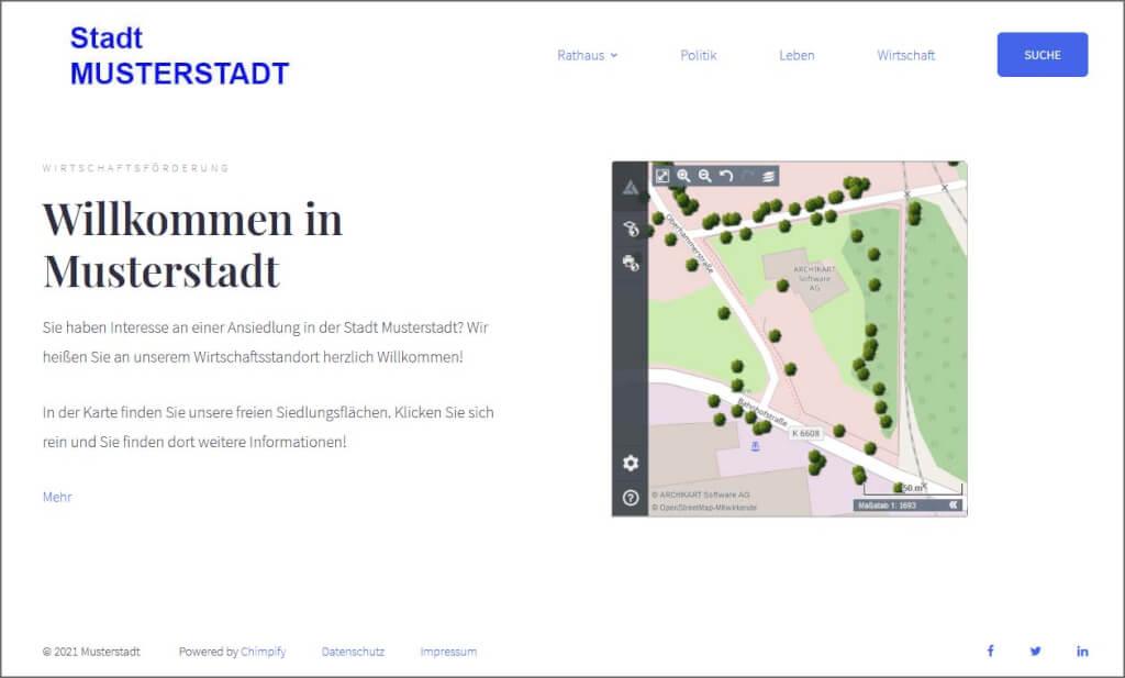 Webseite Musterstadt Karthago