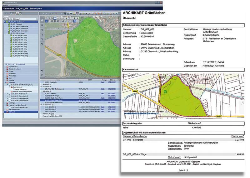 Geografische Karten im Grünflächenmanagement