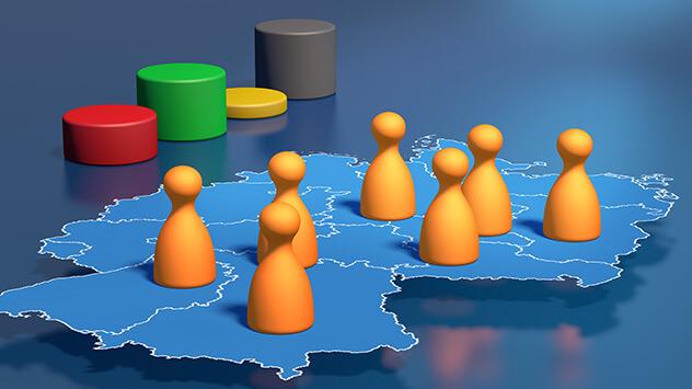 Wahlbezirke statistisch auf Basis der Einwohnergrößen bilden