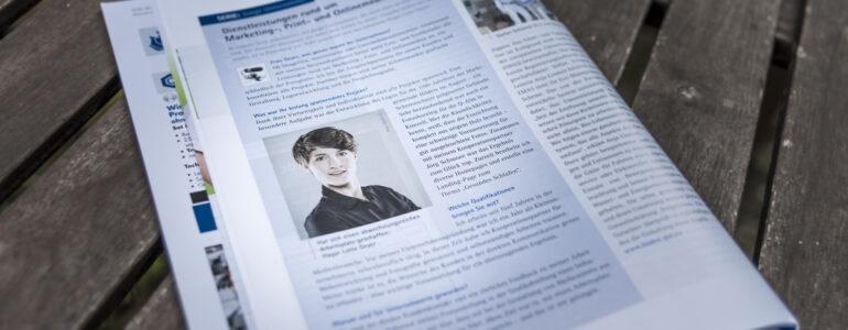 Hagar Lotte Geyer also Jungunternehmerin mit dem Studio 32 im Interview der IHK Fulda