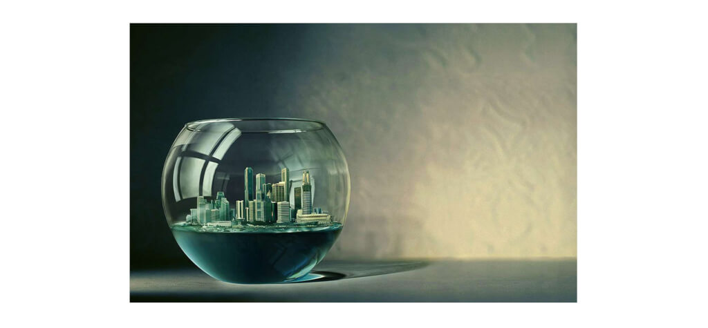 city in fish bowl