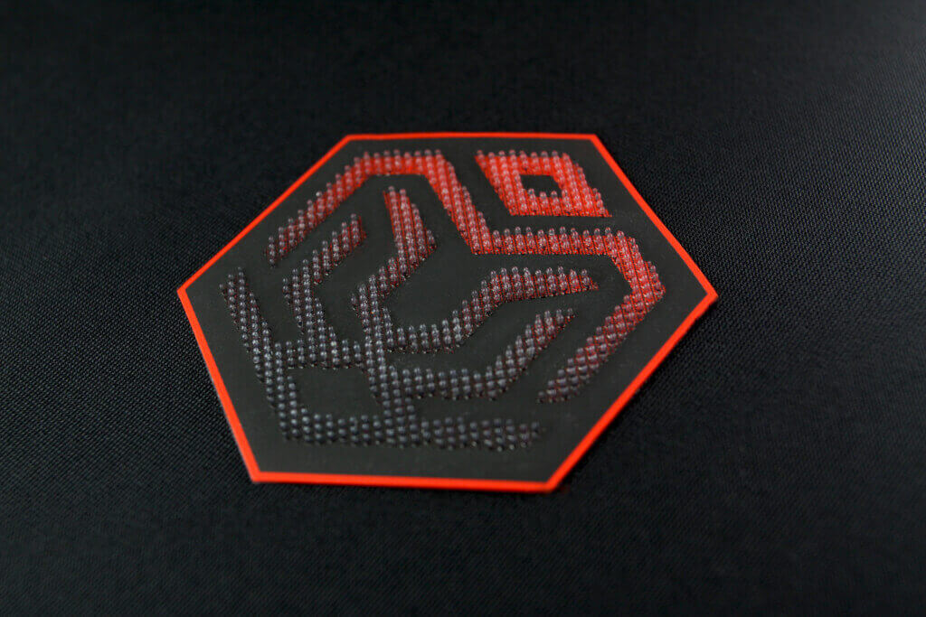 3D SILICONE | FUNKY PINS HEAT TRANSFER LOGO