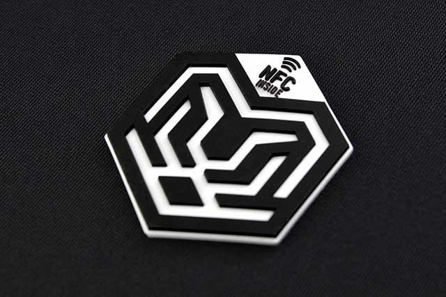 3D SILICONE | MOULDED NFC HEAT TRANSFER LOGO