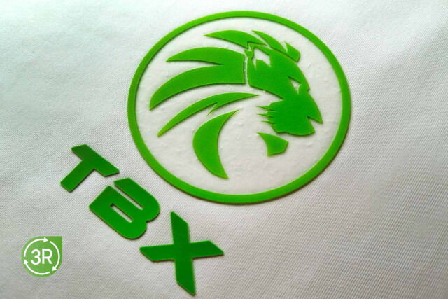 3R   3D SILICONE MULTILEVEL SUSTAINABLE HEAT TRANSFER LOGO