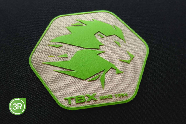 3R   3D SILICONE X WOVEN SUSTAINABLE HEAT TRANSFER LOGO