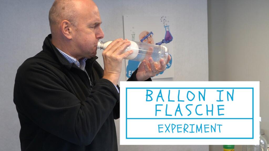 Luftballon in Flasche aufpusten - Experiment
