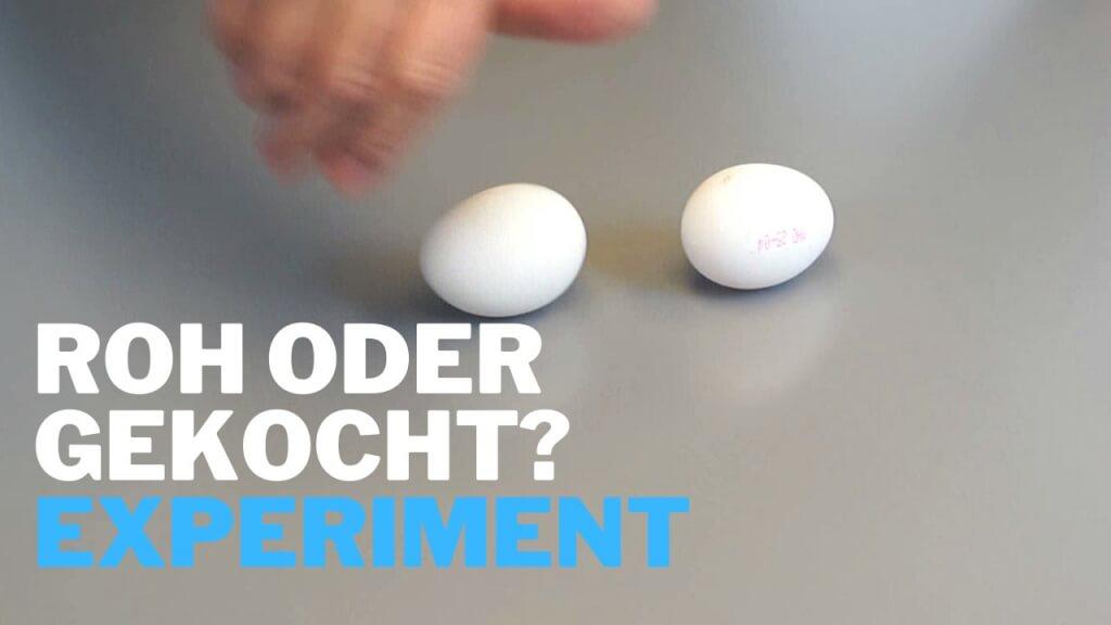 Ei roh oder gekocht - Experiment für Kinder?
