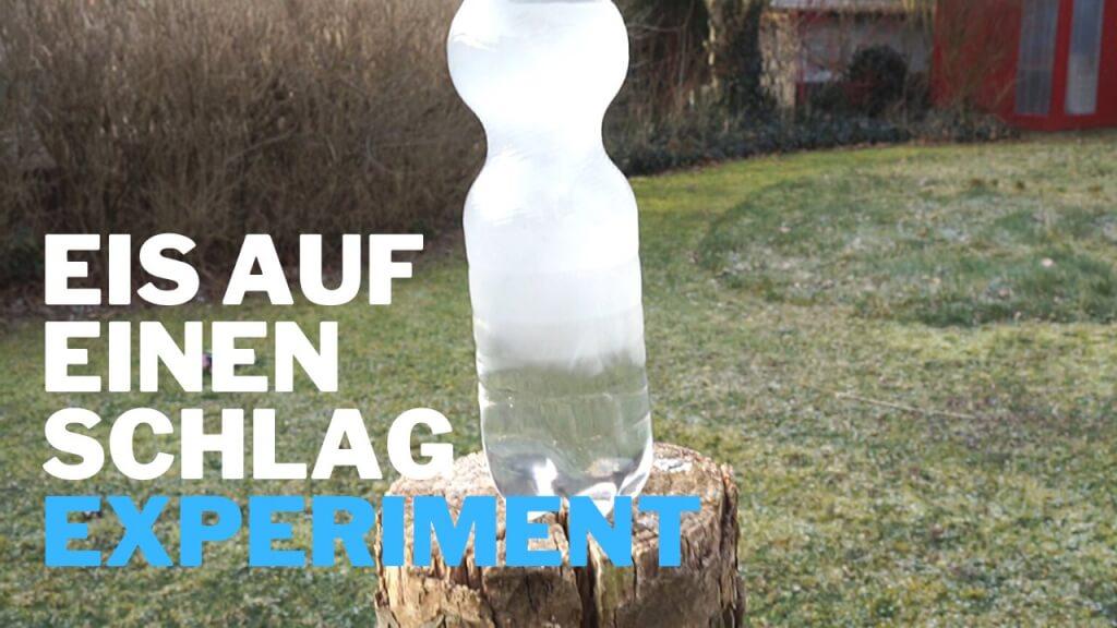 Wasser gefriert schlagartig - Experiment!
