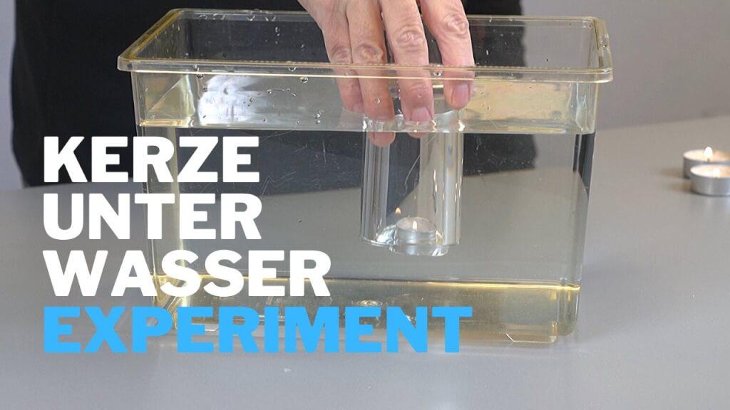 Teelicht brennt unter Wasser - Experiment