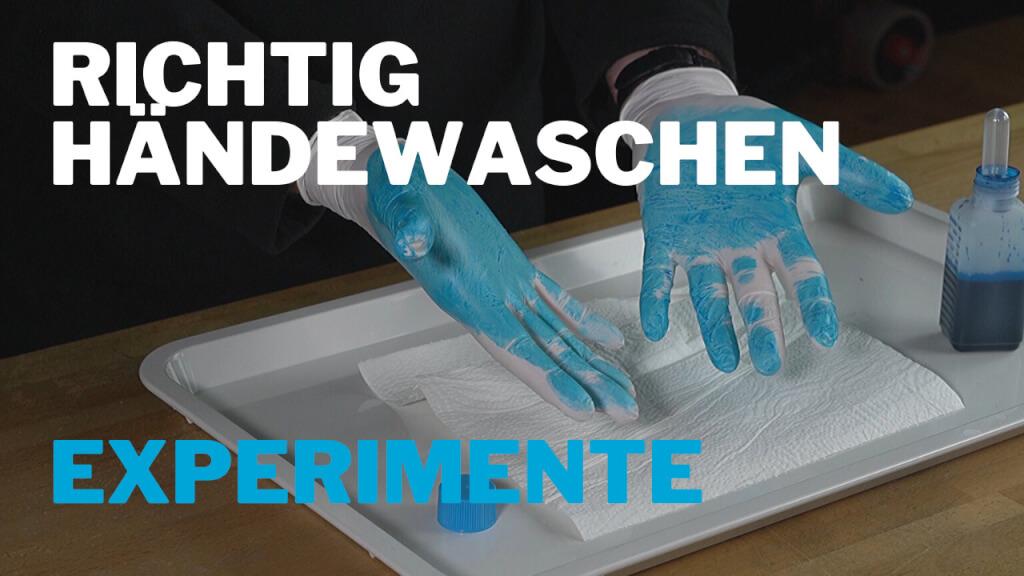 Richtig Hände waschen – Experiment für Kinder