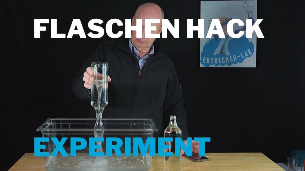 Der Flaschentrick – Wasser Experiment zum Nachmachen