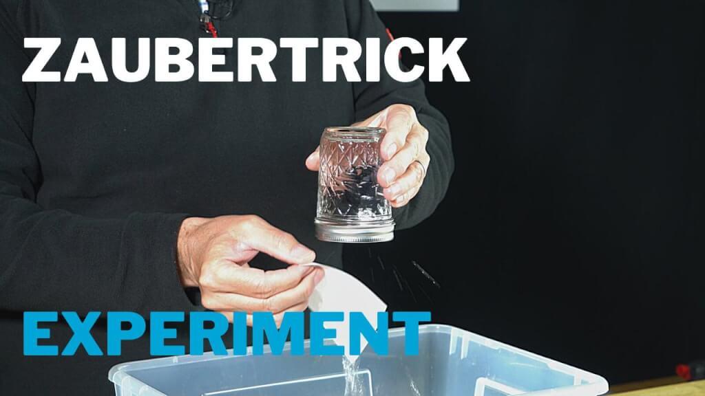 Trick mit Wasserglas – Experiment