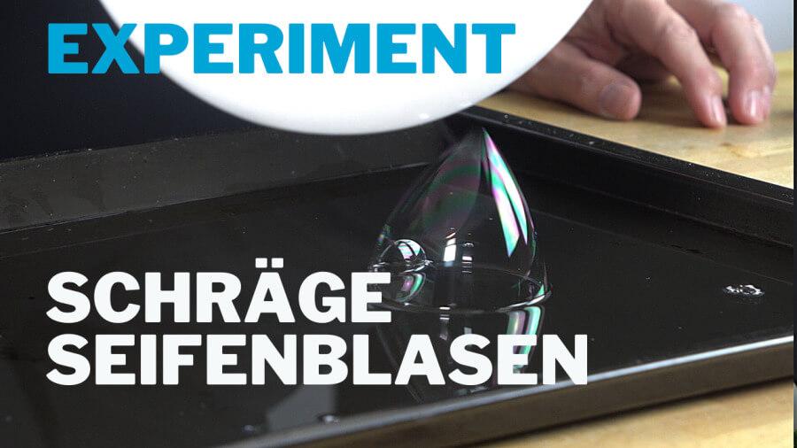 Seifenblasen verzerren – Experiment mit Elektrostatik