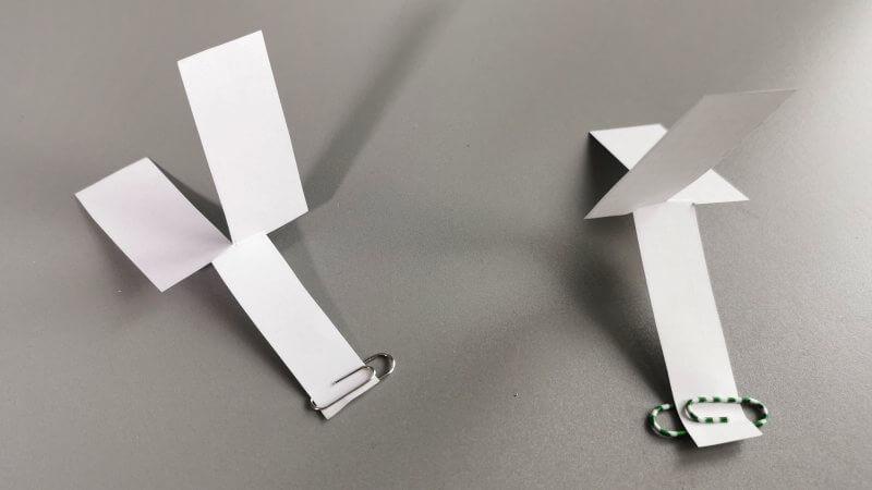 Das Papiermodell des Pappelsamens.