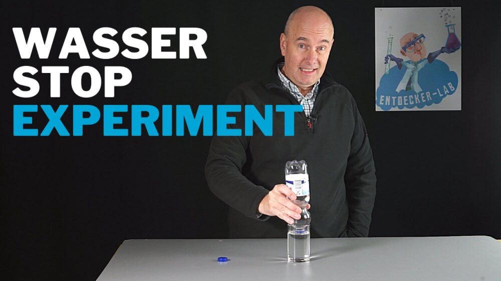 Wasser stoppt von selbst - Party-Experiment zum Nachmachen