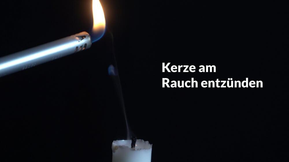 Eine Kerze lässt sich am Rauch wieder anzünden.