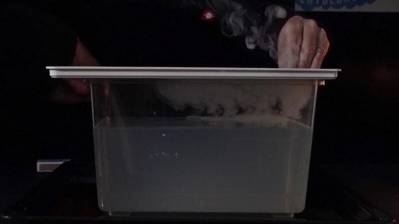 Rauchpartikel streuen das Licht