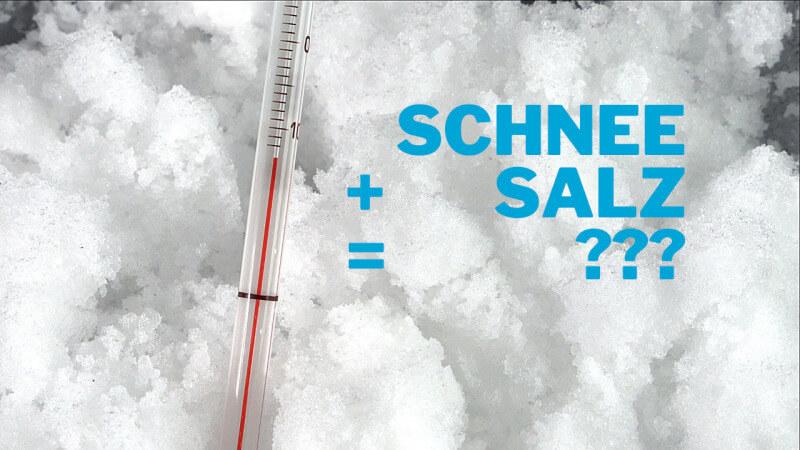 Schnee plus Salz - Gefrierpunkt
