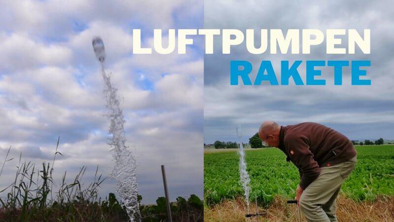 Luftpumpen-Rakete mit Wasser-Rückstoß