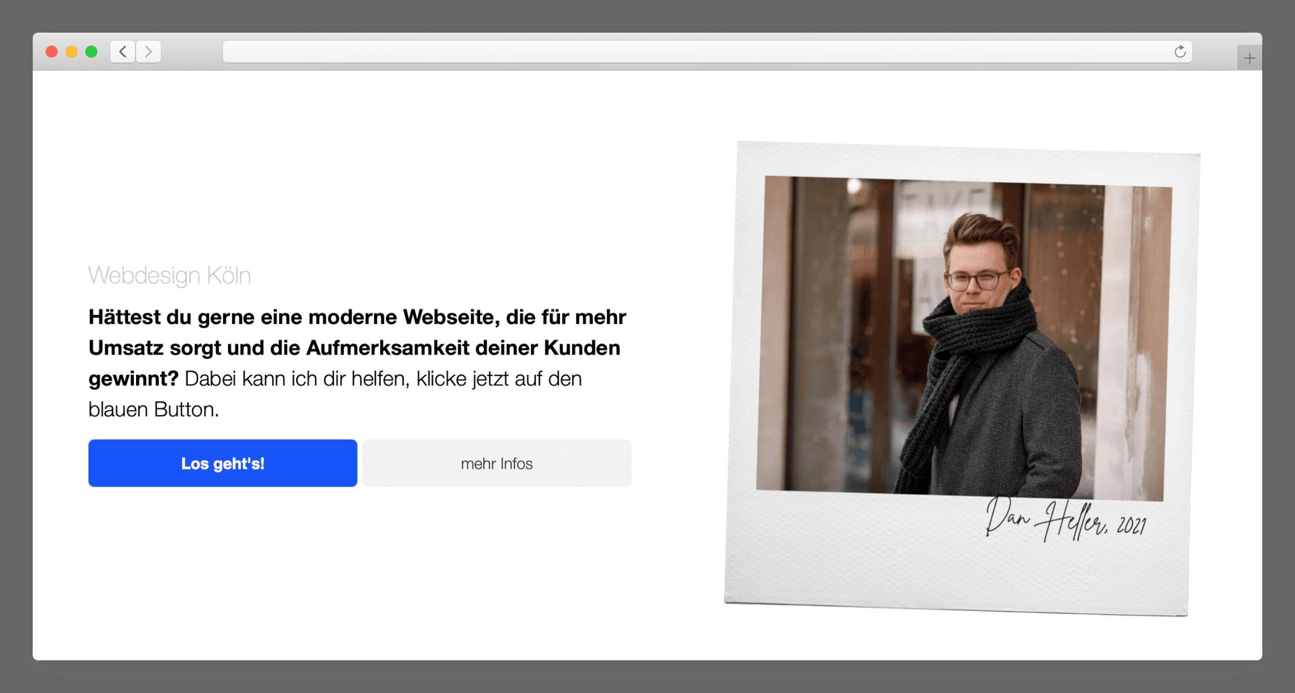 desktop ansicht responsive design