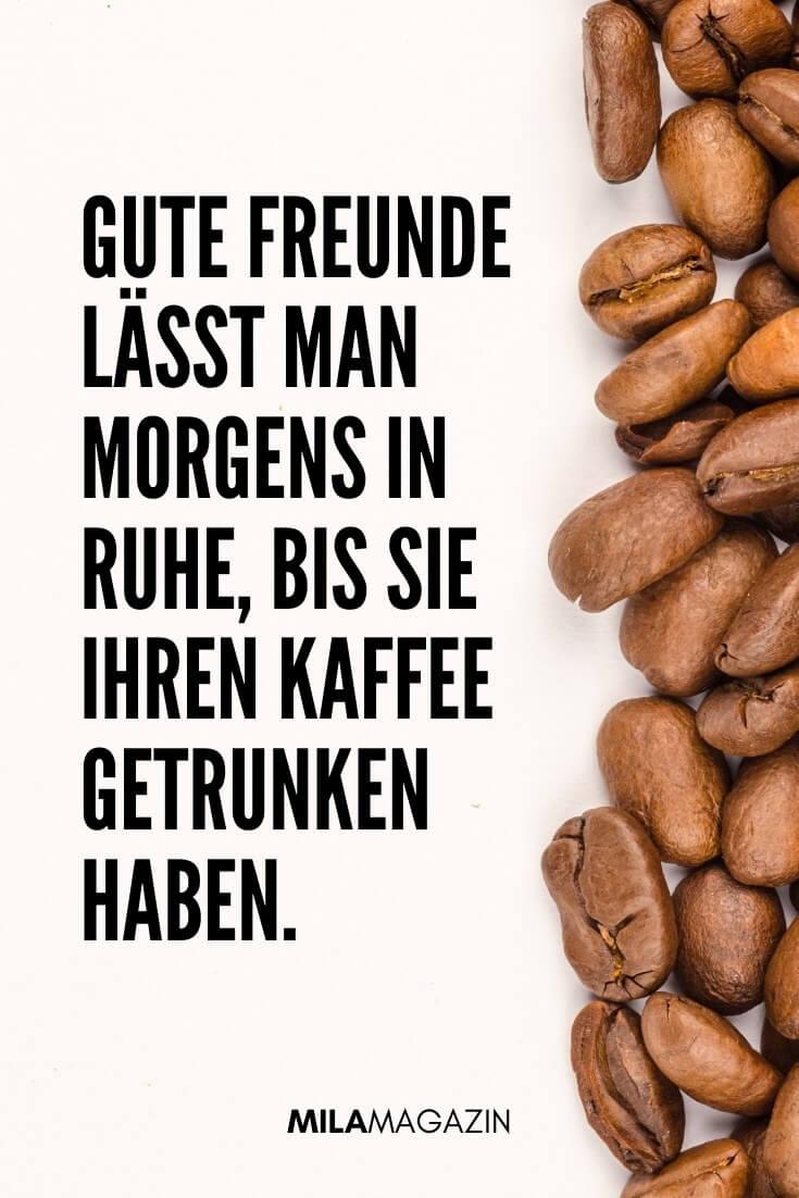 Gute Freunde lässt man morgens in Ruhe, bis sie ihren Kaffee getrunken haben. | MILAMAGAZIN | Sprüche für einen Guten Morgen