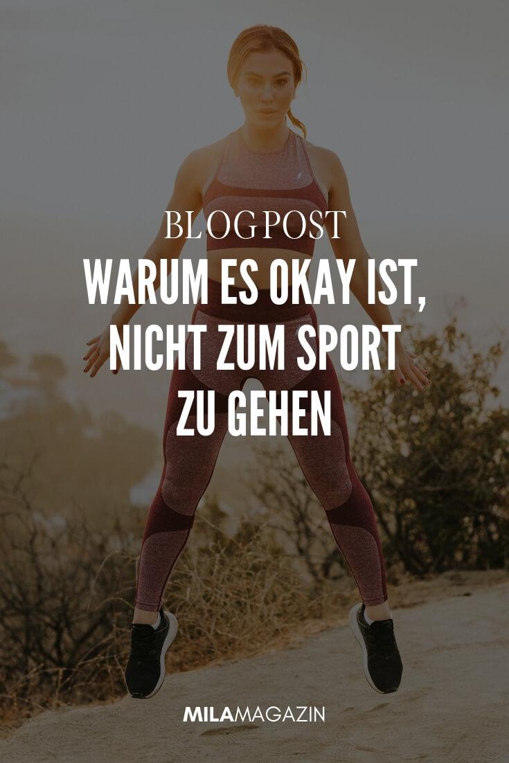 Warum du heute nicht zum Sport gehen solltest! | MILAMAGAZIN