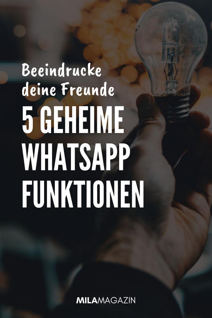 5 geheime WhatsApp-Hacks | MILAMAGAZIN