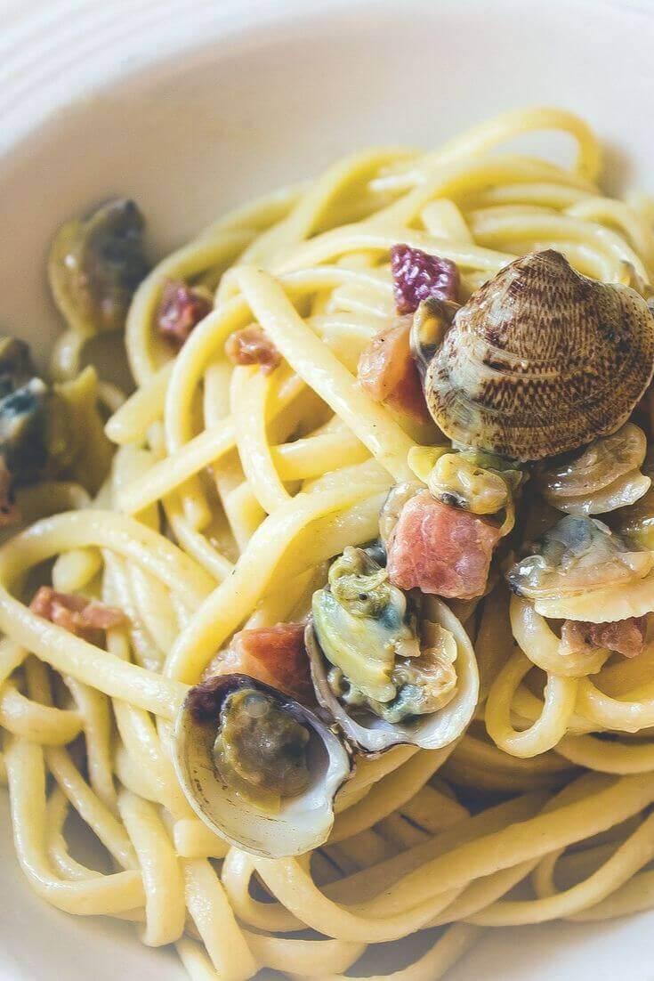 Liguine alle Vongole con Pancetta | MILAMAGAZIN