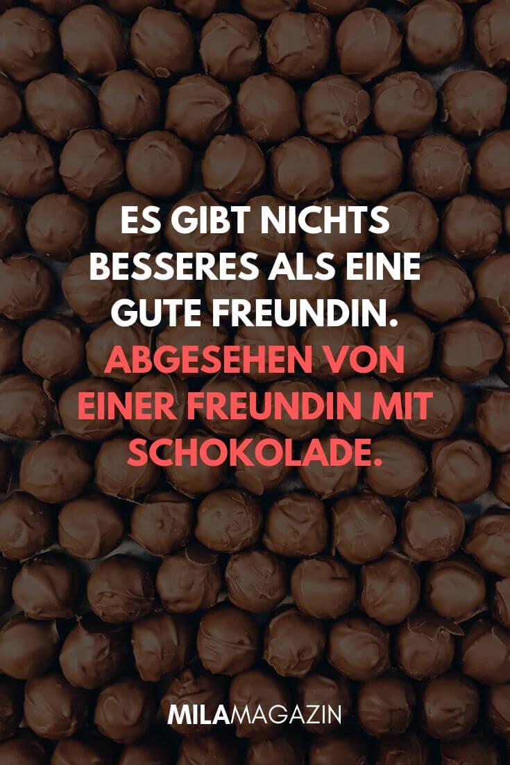 Es gibt nichts Besseres als eine gute Freundin. Außer eine Freundin mit Schokolade. | MILAMAGAZIN