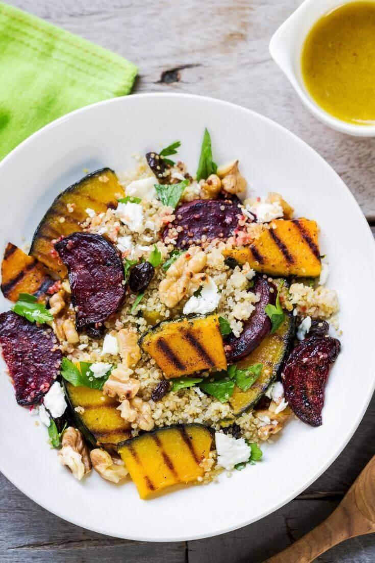 Quinoa-Salat mit geröstetem Kürbis | MILAMAGAZIN