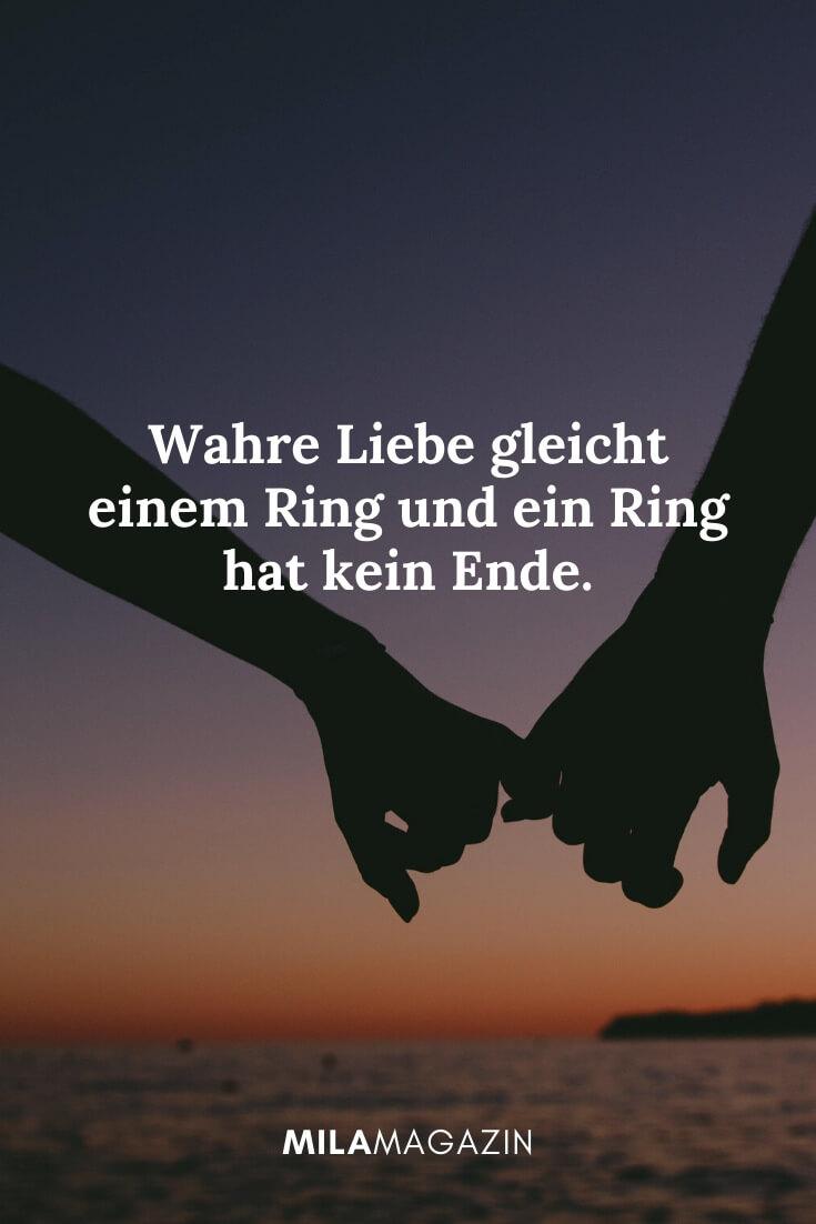 Wahre Liebe gleicht einem Ring und ein Ring hat kein Ende. | MILAMAGAZIN