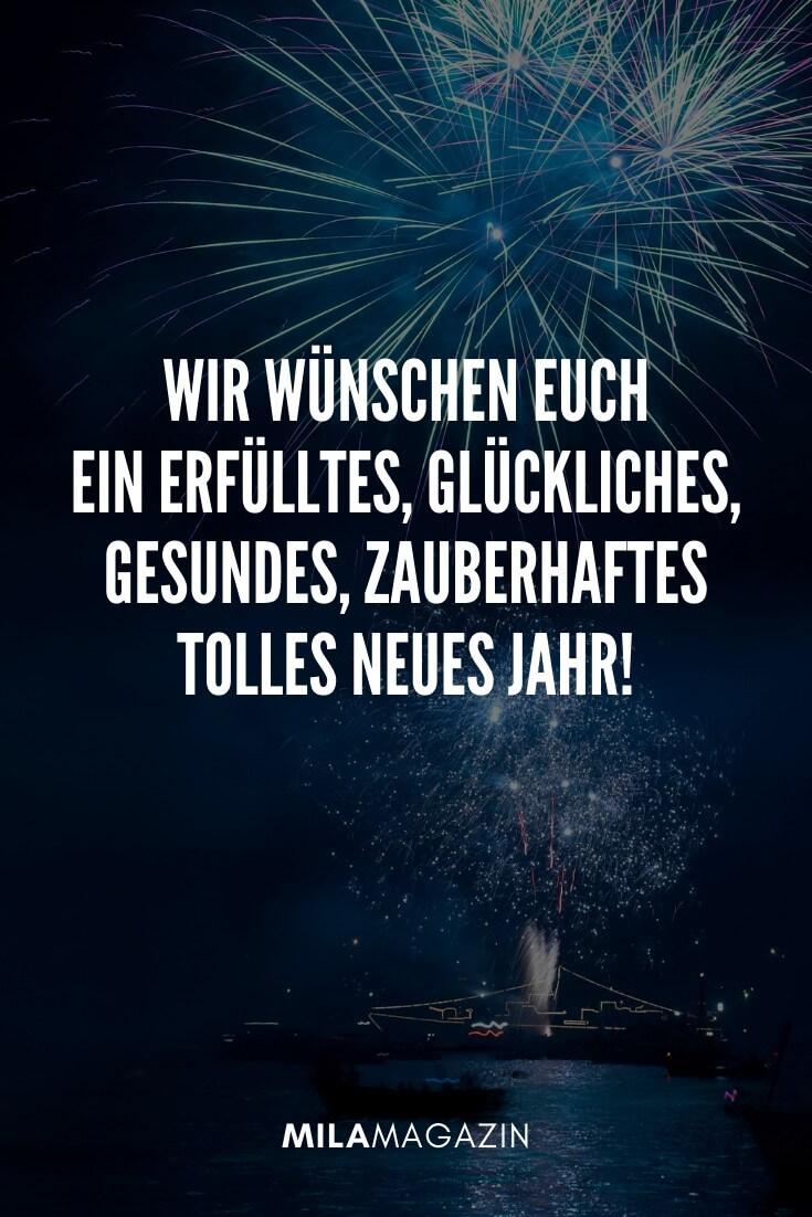 Wir wünschen euch ein erfülltes, glückliches, gesundes, zauberhaftes Jahr 2020! | 51 Neujahrswünsche | MILAMAGAZIN