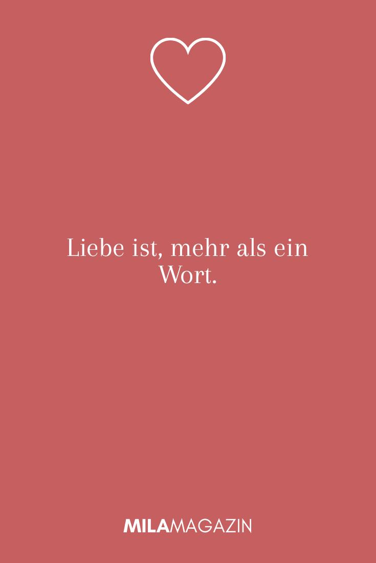 Liebe ist, mehr als ein Wort.