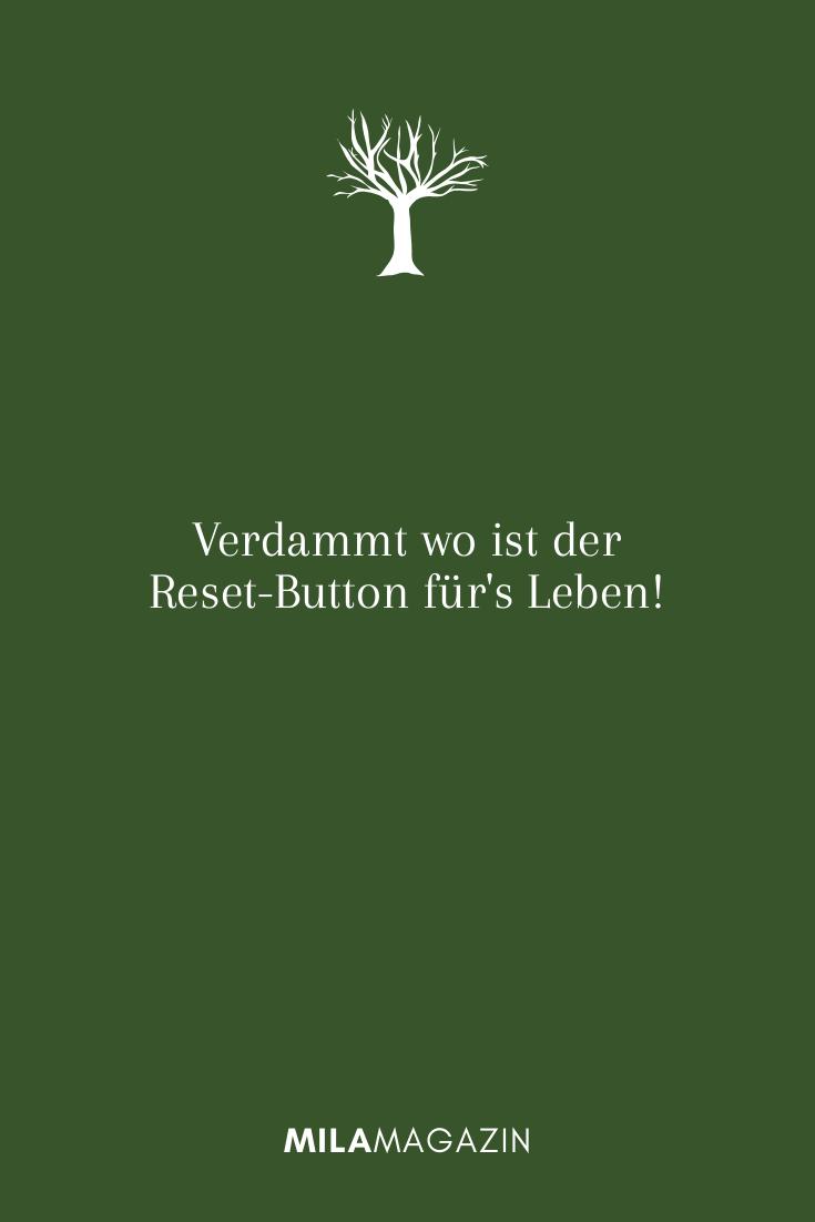 Verdammt wo ist der Reset-Button für's Leben!