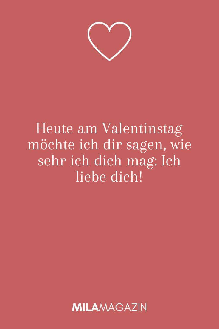 Heute am Valentinstag möchte ich dir sagen, wie sehr ich dich mag: Ich liebe dich!