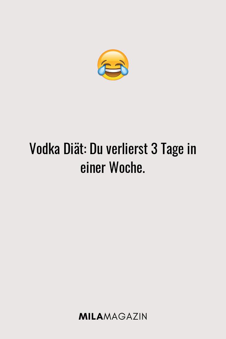 Vodka Diät: Du verlierst 3 Tage in einer Woche.