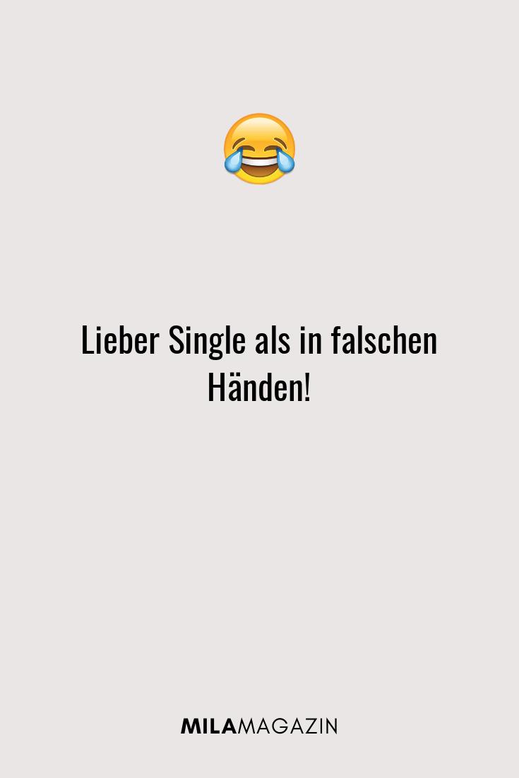 Lieber Single als in falschen Händen!