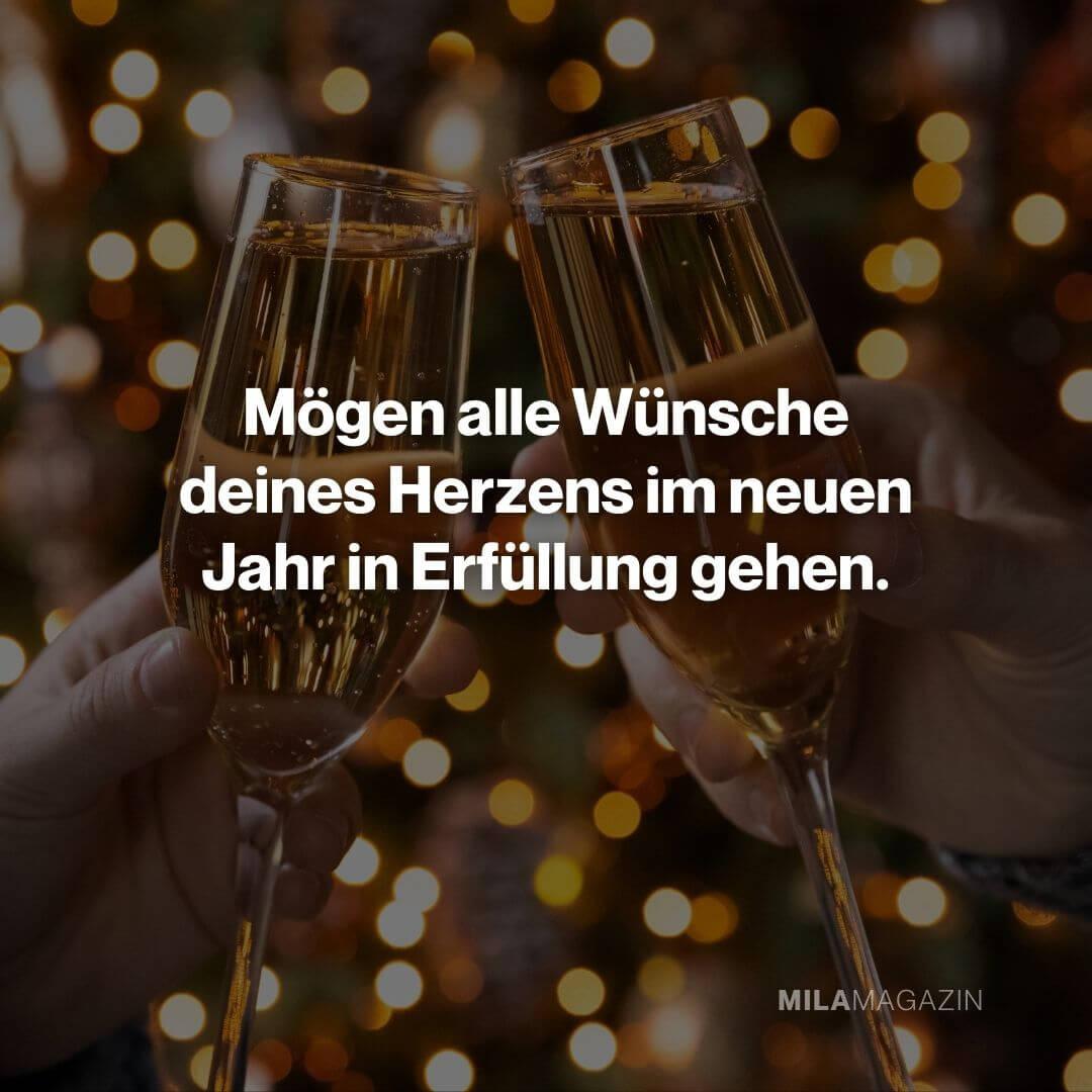 Mögen alle Wünsche deines Herzens im neuen Jahr in Erfüllung gehen.|Neujahrswünsche
