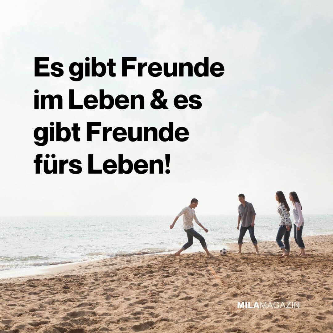 Es gibt Freunde im Leben & es gibt Freunde fürs Leben! | Freundschaftssprüche