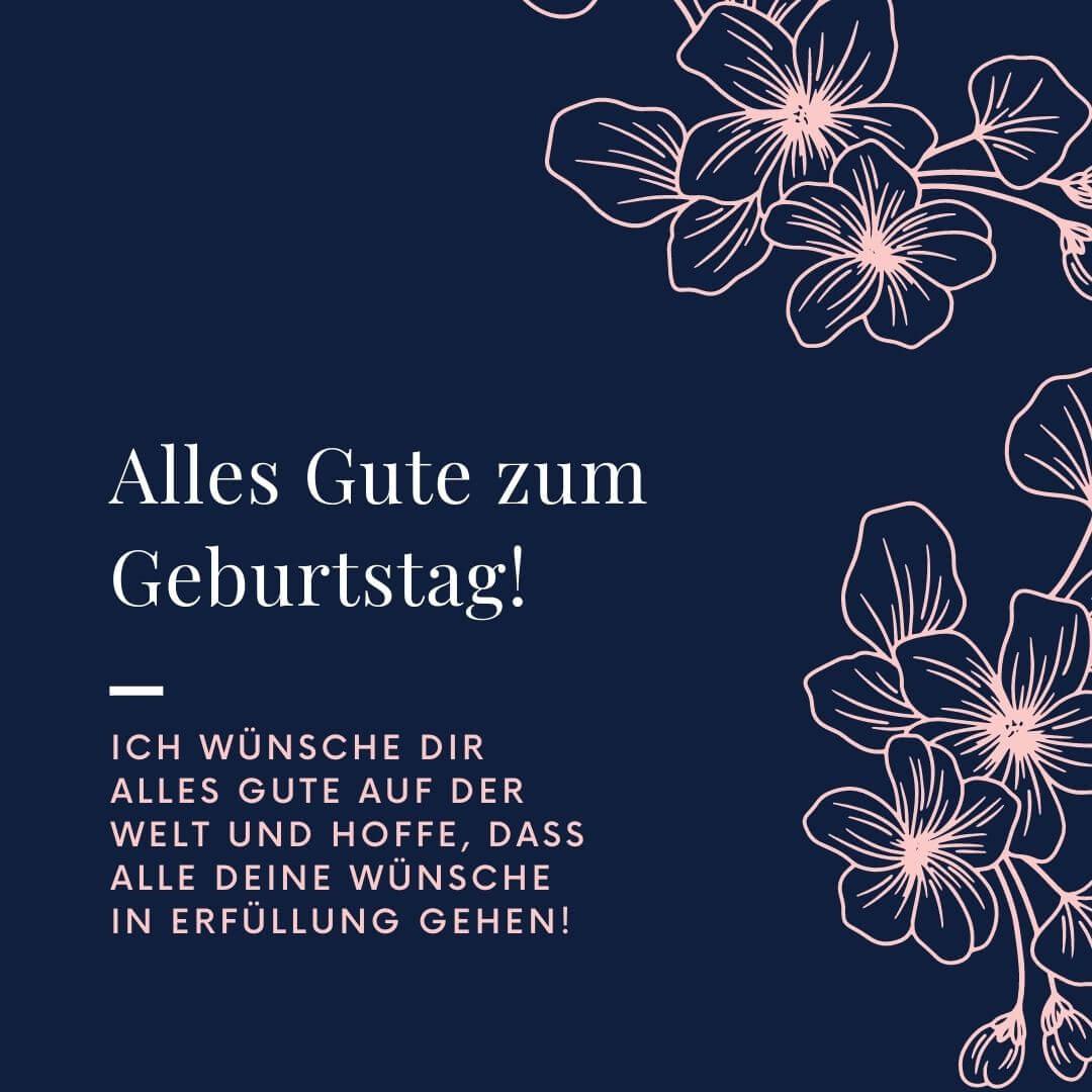 """""""Ich wünsche dir alles Gute auf der Welt und hoffe, dass alle deine Wünsche in Erfüllung gehen"""" – Geburtstagskarte für sie"""