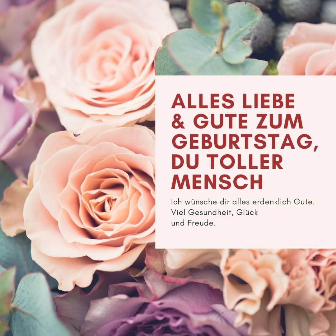 """""""Ich wünsche dir alles erdenklich Gute. Viel Gesundheit, Glück und Freude!"""" – Geburtstagskarte für sie"""