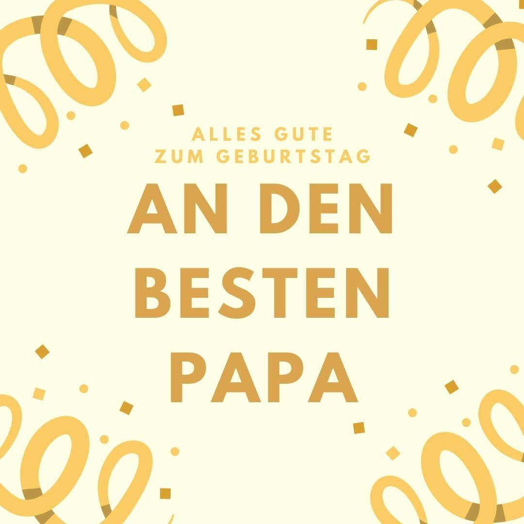 Geburtstagskarte an den besten Papa