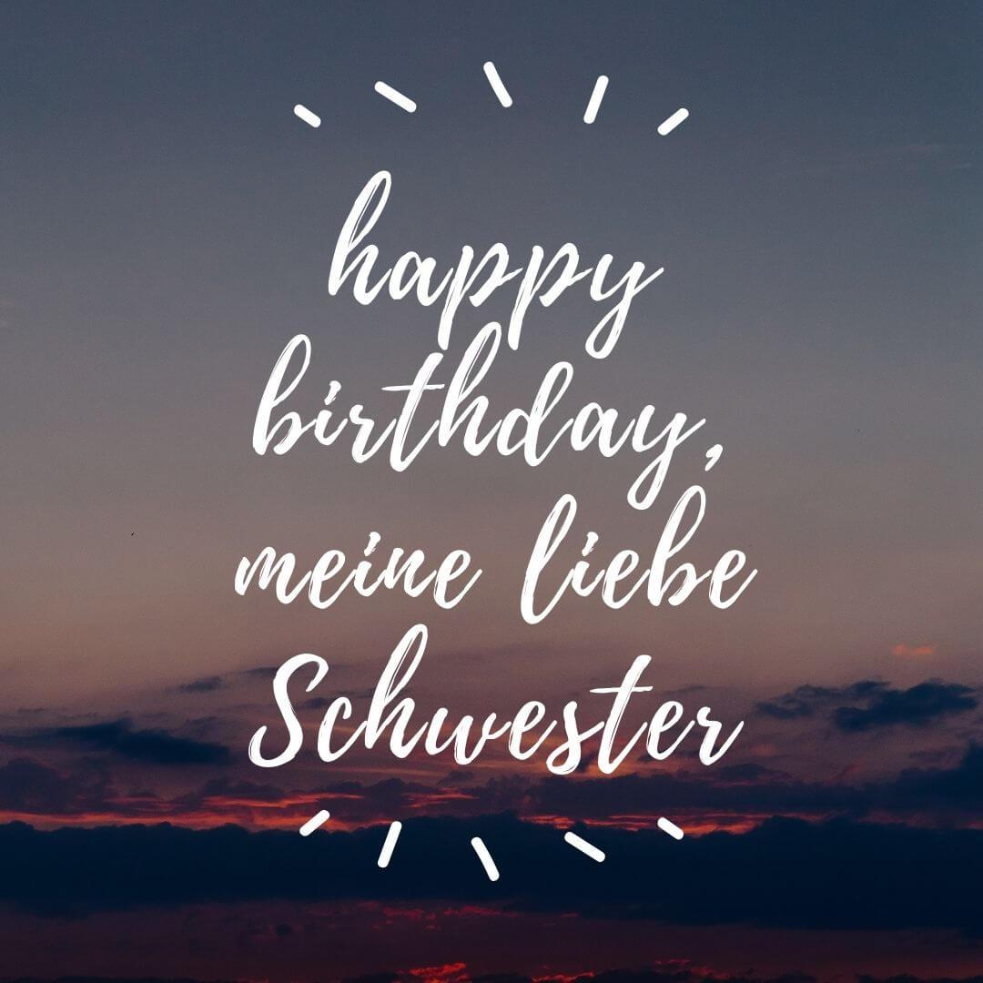 happy birthday, meine liebe Schwester