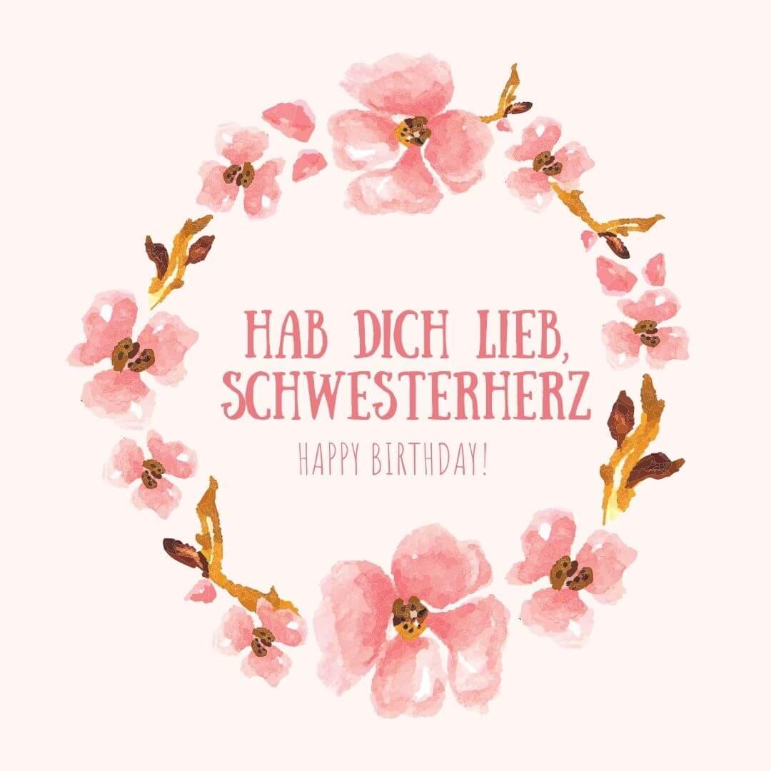 hab dich lieb, schwesterherz – Happy Birthday!
